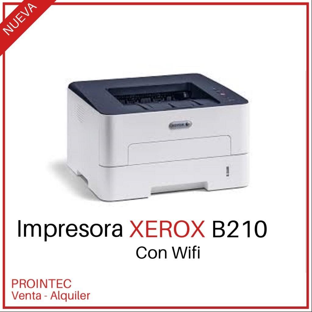 IMPRESORA LASER XEROX B210 B/N Wi FI