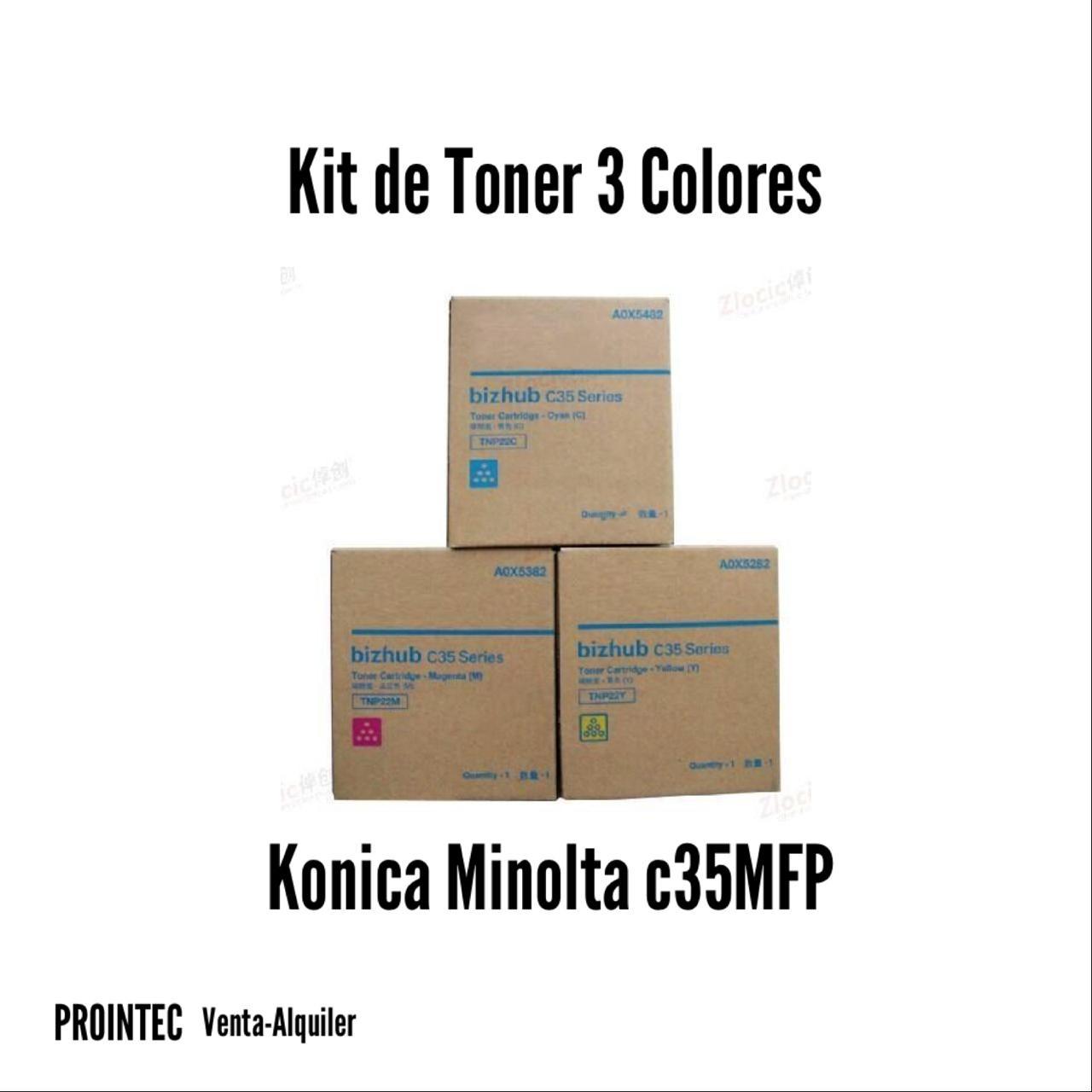 Kit de Tóner Minolta C35 MFP   C, M, Y