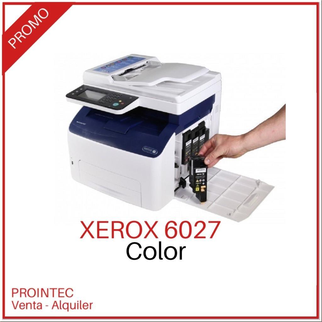 Impresora multifunción COLOR Xerox 6027 WIFI S/FULL