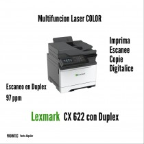 MULTFUNCION LASER COLOR LEXMARK CX622