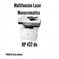 MULTIFUNCION HP 432 FDN LASERJET PLATINA A4 MONOCROMO