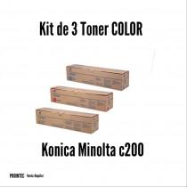 Kit de Tóner Minolta C200 C, M, Y