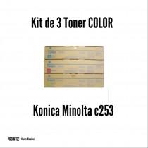 Kit de Tóner Minolta C253 C, M, Y