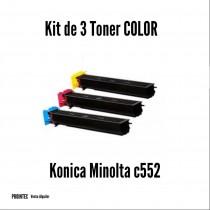 Kit de Tóner Minolta C552 C, M, Y