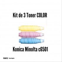 Kit de Tóner Minolta C6501 C, M, Y