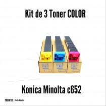 Kit de Tóner Minolta C652 C, M, Y