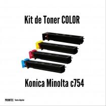 Kit de Tóner Minolta C754 C, M, Y, K