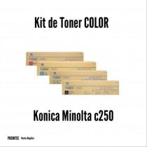 Kit de Tóner Minolta C250 C, M, Y, K