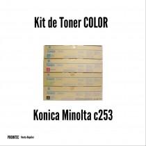 Kit de Tóner Minolta C253 C, M, Y, K