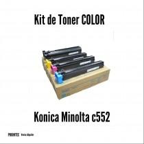 Kit de Tóner Minolta C552 C, M, Y, K