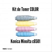 Kit de Tóner Minolta C6501 C, M, Y, K