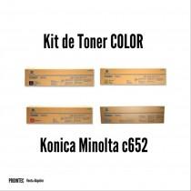 Kit de Tóner Minolta C652 C, M, Y, K