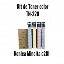 Kit de Tóner Minolta C281 C, M, Y, K