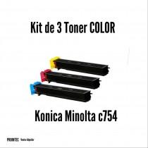 Kit de Tóner Minolta C754C, M, Y