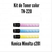 Kit de Tóner Minolta C220 / C280 C, M, Y
