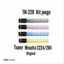 Kit de Tóner Minolta C220 / C280 C, M, Y, K
